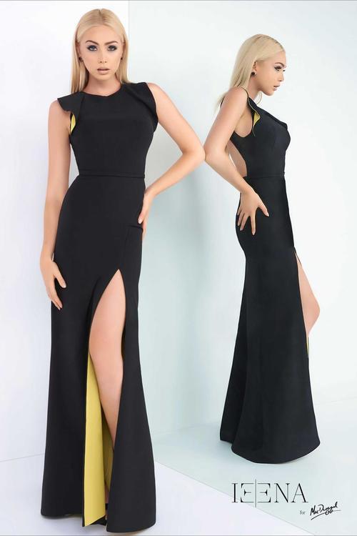 Ieena for Mac Duggal - 25441 Cap Gown In Black