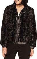 Alfred Dunner Wrap It Up Faux Fur Jacket