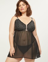 Lane Bryant Embroidered Lace No-Wire Babydoll