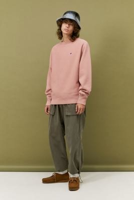 Champion UO Exclusive Small C Ash Rose Crew Neck Sweatshirt - Pink S at Urban Outfitters