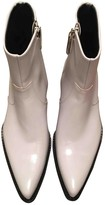 Calvin Klein White Leather Ankle boots