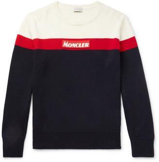 Moncler Colour-Block Virgin Wool Sweater