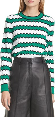 Veronica Beard Amalie Zigzag Stripe Sweater