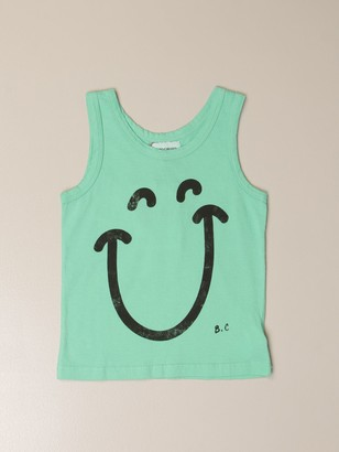 Bobo Choses Cotton Tank Top With Smile Print