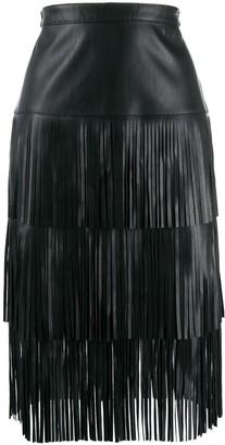 Karl Lagerfeld Paris Fringed Skirt