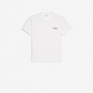 Balenciaga Political Campaign Small Fit T-shirt in white vintage jersey