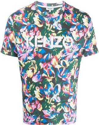 Kenzo x Vans logo floral-print T-shirt