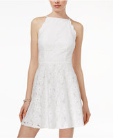 Amy Byer Juniors' Lace Fit and Flare Dress