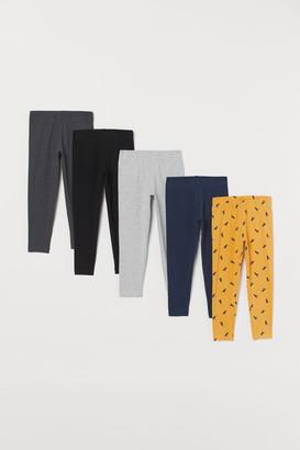 H&M 5-pack Leggings - Yellow