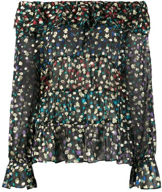 Rixo Chloe off-shoulder blouse