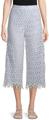 ENGLISH FACTORY Lace Cropped Pant