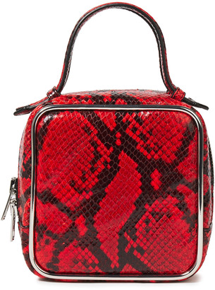 Alexander Wang Halo Square Snake-effect Leather Tote