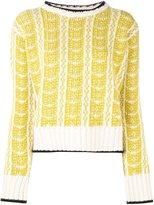 Marni intarsia jumper - women - Wool - 44