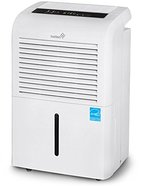 Ivation 70 Pint Energy Star Dehumidifier - Large-Capacity For Spaces Up To 4,500 Sq Ft - Includes Programmable Humidistat, Hose Connector, Auto Shutoff / Restart, Timer, Casters & Washable Air Filter