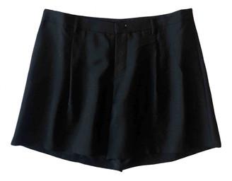 Prada Anthracite Wool Shorts