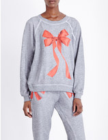 Wildfox Couture Bow print jersey sweatshirt
