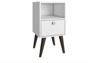 Manhattan Comfort Accentuation Abisko Stylish Side Table with 1- Cubby and 1-Drawer