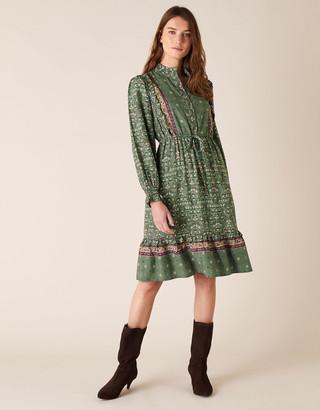 Monsoon Ditsy Floral Short Dress in LENZING ECOVERO Green