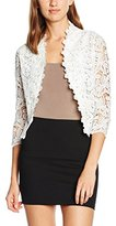 Quiz Women's Lace Crochet 3/4 Sleeve Crop Dress
