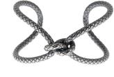 Bottega Veneta Oxidised-silver bracelet