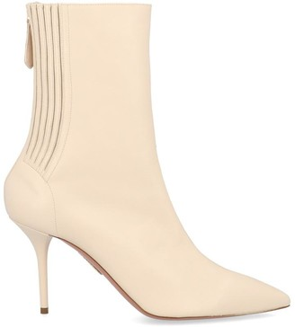 Aquazzura Panelled Pointed-Toe Ankle Boots