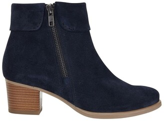 Easy Steps Tenor Navy Suede Boots