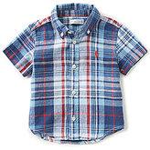 Ralph Lauren Baby Boys 3-24 Months Linen-Blend Short-Sleeve Shirt
