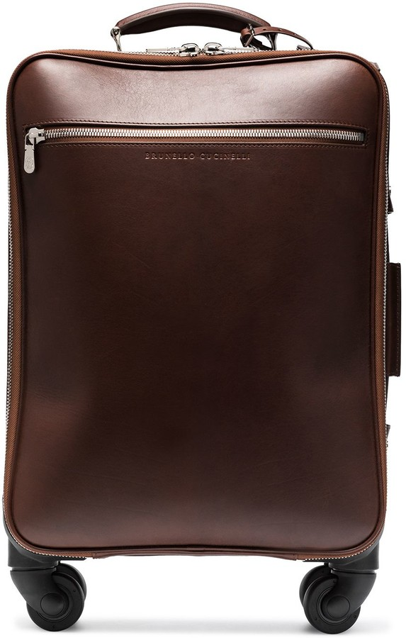 Brunello Cucinelli Leather Cabin Suitcase