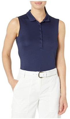 Puma Rotation Sleeveless Polo (Peacoat) Women's Clothing