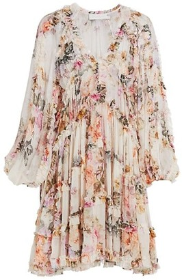 Zimmermann Brighton Frill Silk Billow Dress