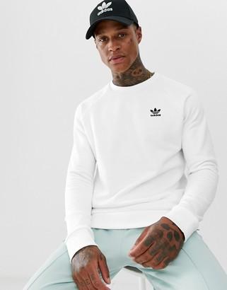 adidas Essentials Sweatshirt Small Logo White