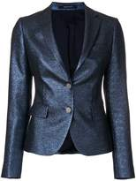 Tagliatore shiny fitted blazer