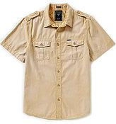 GUESS Short-Sleeve Daniel Solid Dobby Sportshirt