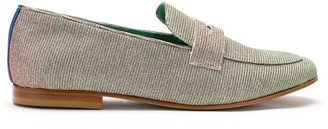 Blue Bird Shoes Penny Talitha lurex loafers