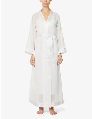Bluebella Marcella satin-trim chiffon kimono