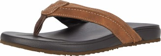 Lucky Brand Mens Felton Flip-Flop Sandal Shoe Tan 9