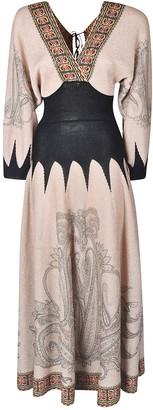 Etro Fitted Waist V-neck Dress