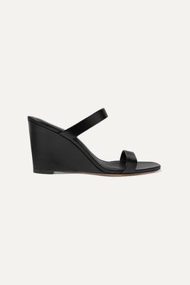 Diane von Furstenberg Vivienne Leather Mules - Black