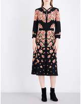Vilshenko Detava floral-print silk-crepe midi dress