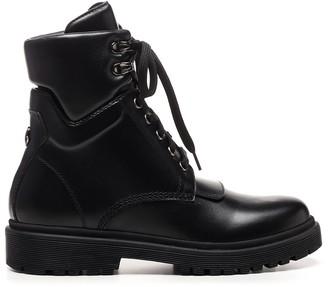 Moncler Lace-Up Combat Boots