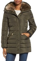 MICHAEL Michael Kors Women's Down & Feather Hooded Coat With Faux Fur Trim