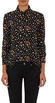 Saint Laurent Women's Star-Print Button-Front Blouse-BROWN