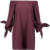 Tibi Off-the-shoulder cotton-poplin mini dress