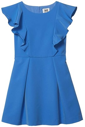 Milly Cady Ruffle Dress (Big Kids) (Cornflower) Girl's Dress