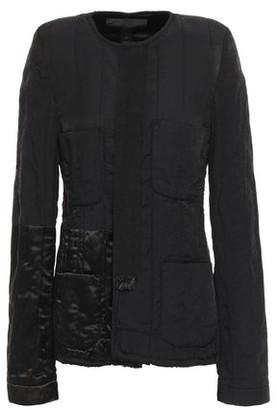 Haider Ackermann Crinkled Satin-paneled Cotton-blend Twill Jacket