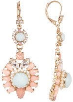 Marchesa Simulated Pearl, Crystal, & Stone Drop Earrings