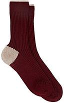Maria La Rosa Women's Cashmere-Blend Mid-Calf Socks-BURGUNDY