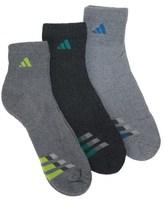 adidas 3 Pack Men's Cushion Quarter Socks