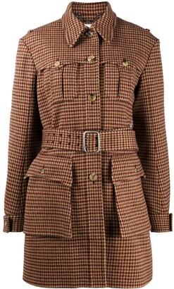 Chloé Belted Houndstooth Jacket