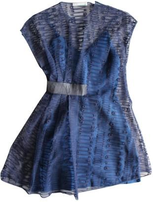 Richard Nicoll Blue Silk Dress for Women